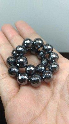 日本養生能量石 可溶冰 鈦赫茲 10MM 鑽切手珠手鍊 鈦赫茲手鍊