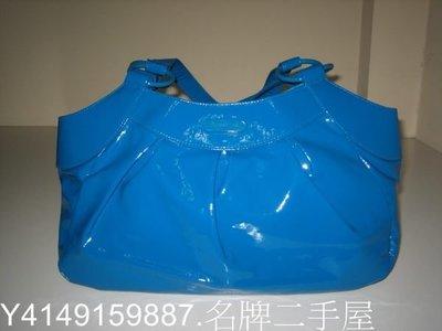 鳳山名牌二手屋.agnes b~全新真品藍色側肩包(大特價....3.6折2800無底價)