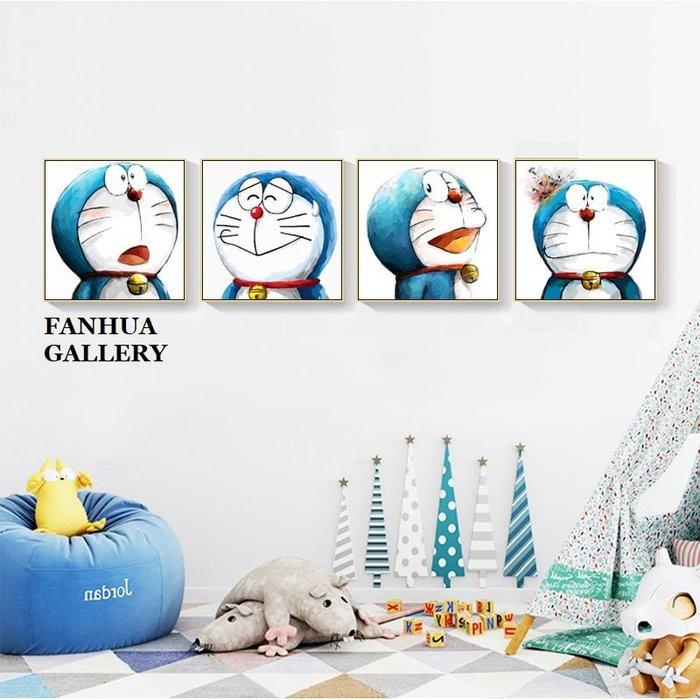 C - R - A - Z - Y - T - O - W - N 哆啦A夢機小叮噹裝飾畫美式方形版畫民宿旅店房間掛畫