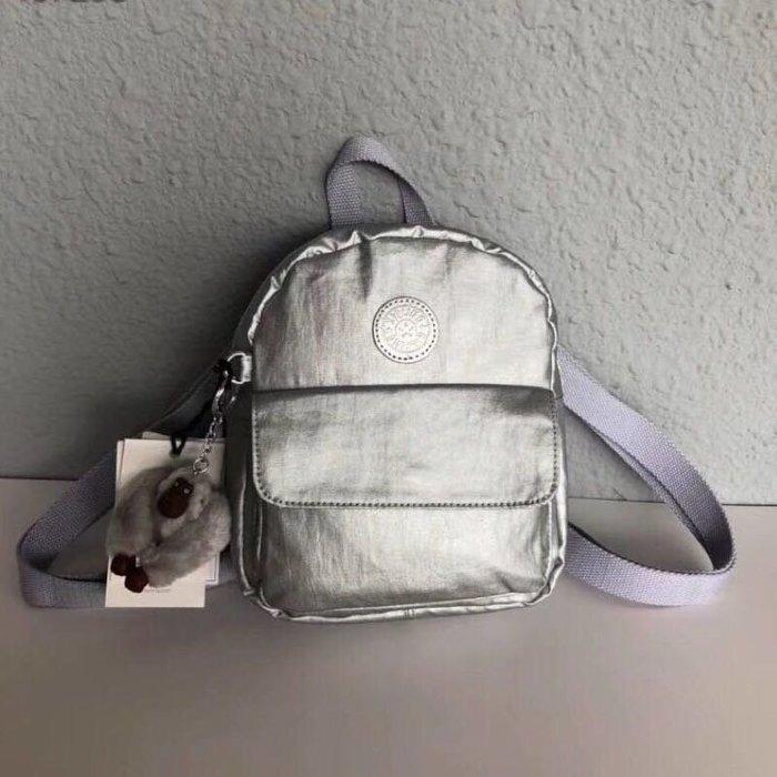 Kipling 猴子包 KI4622 金屬銀 輕量雙肩後背包 多夾層 小號 防水 限時優惠