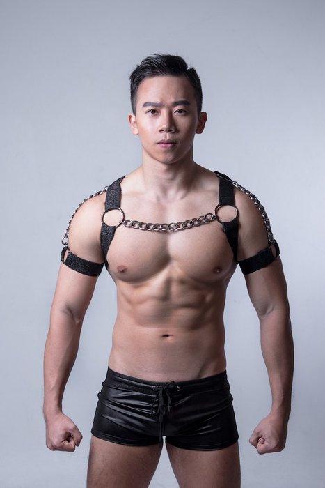 EVAN'S - AJ PARTY KING 胸甲 ( 黑雙鏈 )