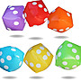 30cm Inflatable Dice Toy Activity Game Drinking Party Pub