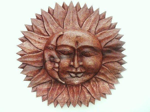 Y【永晴峇里島】巴里島風太陽月亮雕像,增添異國風味,居家,民宿,飯店都好用-擺飾17
