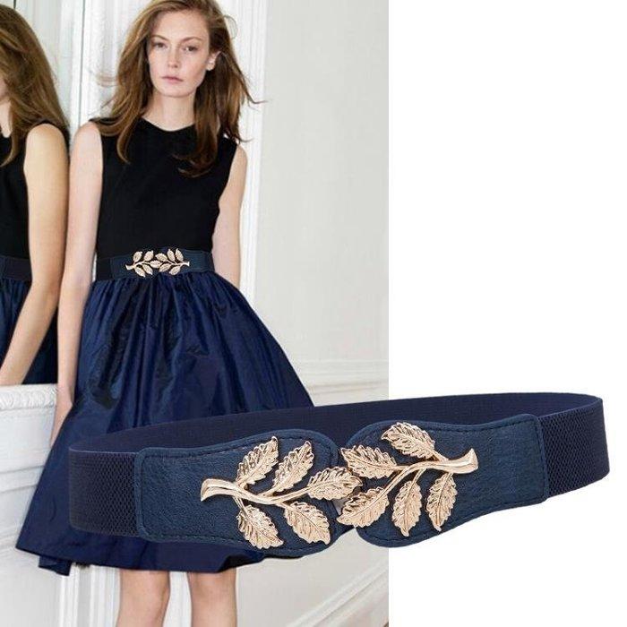 秋冬連衣裙子裝飾腰帶時尚鬆緊女腰封韓版女士羽絨服腰帶彈力皮帶