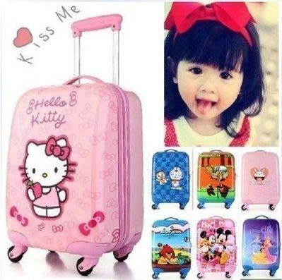 【優上精品】迪士尼兒童ABS拉桿箱包旅行箱18寸萬向輪卡通箱輕可愛行李箱20(Z-P3264)
