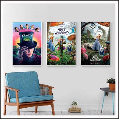 魔境夢遊 Alice 巧克力冒險工廠 海報 電影海報 藝術微噴 掛畫 嵌框畫 @Movie PoP 賣場多款海報~