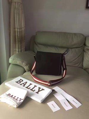 ╭☆包媽子店☆ BALLY Terlago 咖啡色皮翻蓋男士單肩斜挎包/郵差包~適合亞洲人