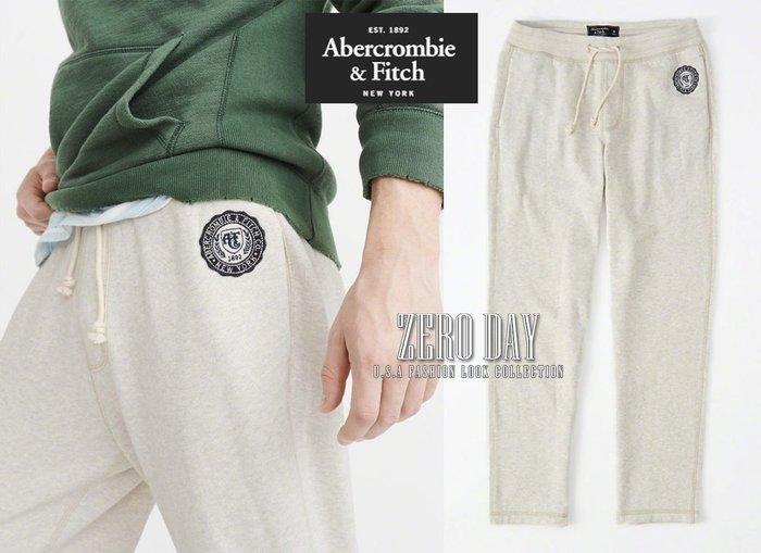 【零時差美國時尚網】A&F真品Abercrombie&Fitch Classic Logo Sweatpants棉褲米色