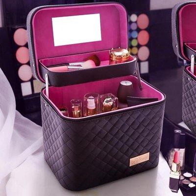 化妝箱家用大容量化妝包手提多層化妝品收納盒箱-五色可選