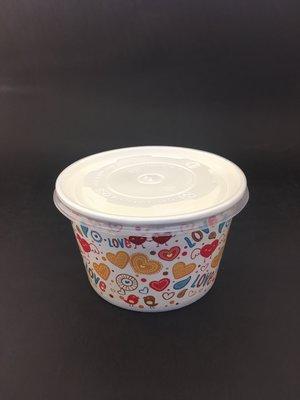 【免洗餐具】《260紙湯杯》 紙碗 湯碗 免洗碗『圖案隨機』(50個/條)含蓋1條