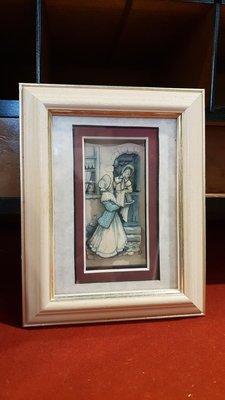 【卡卡頌 歐洲跳蚤市場/歐洲古董】歐洲老件_手工 立體 生活日常 浮雕掛畫 歐洲老掛畫 擺飾 收藏 pa0263✬
