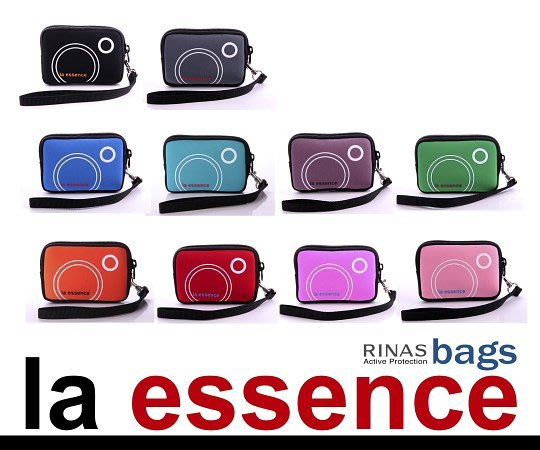 la essence 熱賣商品 LE-9303H 卡片包/ 零錢包 / 手機袋/ 相機包(附手腕帶)潛水衣布.防震.抗摔