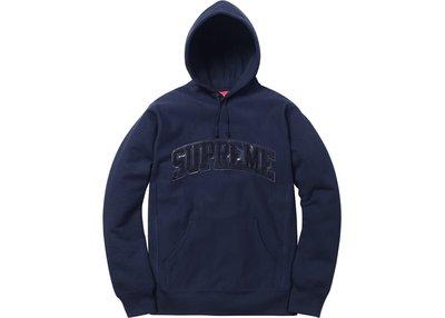 現貨 Supreme Arc Logo Hooded 黑 帽 Tee M號