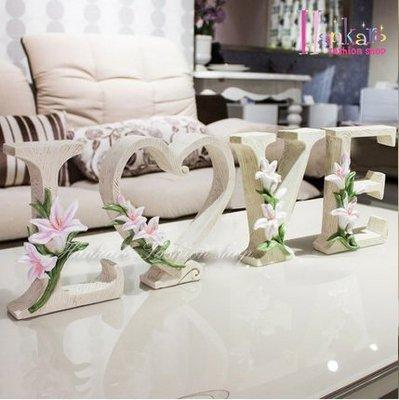 ☆[Hankaro]☆ 婚慶系列商品LOVE百合花精緻浪漫婚禮擺飾新婚禮品