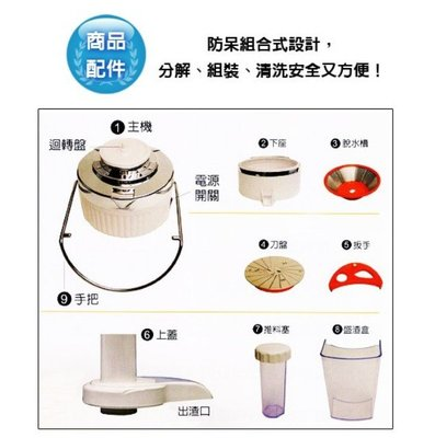 【配件】鳳梨牌 -專業級大口徑榨汁機(CL-003AP1) - 推料塞