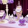紫戀風婚禮佈置租借 婚禮背板 桌布 仿真花 candy bar 拍攝道具 相框 珍珠 歐式糖果罐