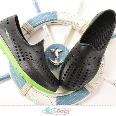 男鞋 超輕量水陸兩用休閒洞洞鞋 魔法Baby sa03670