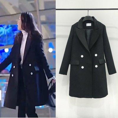 預購-放棄我抓緊我陳喬恩同款2017新品韓版時尚氣質優雅修身顯瘦大翻領百搭外套