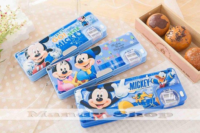 mandyshop【M2890】㊣ Disney迪士尼 / 米奇多功能鉛筆盒 / 收納盒送3枝鉛筆