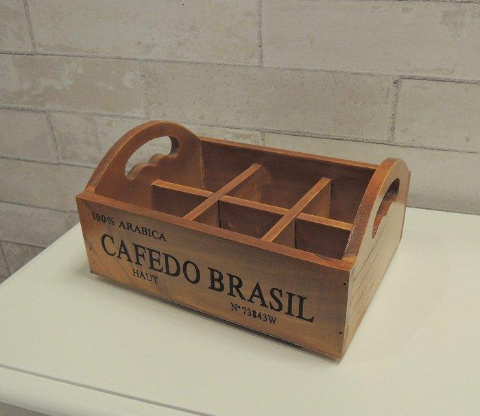 日式仿舊Zakka風收納盒 木製收納盒托盤 六格木托盤 商品展示盒 分類盒 多格置物盒 首飾收納盒 零件收納 小物收納盒