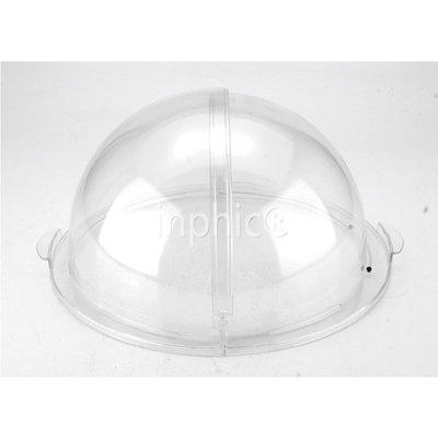 INPHIC-展示盆食品防塵罩pc透明蓋圓形不鏽鋼托盤點心麵包蛋糕