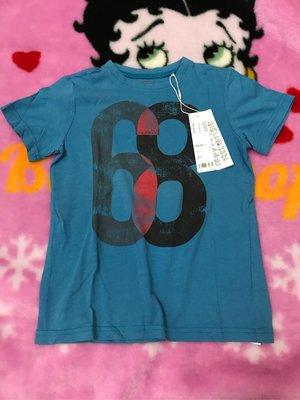 Esprit 藍色數字68短袖上衣/104-110全新附吊牌