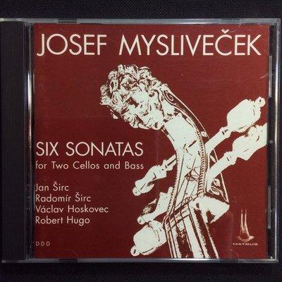 Myslivecek米斯利維塞克-雙大提琴與低音大提琴的作品曲集 1994年捷克全銀圈版無ifpi