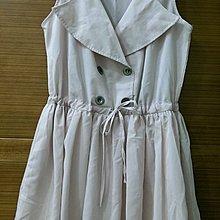 【木風小舖】腰綁帶 假釦子 雪紡洋裝*粉紅