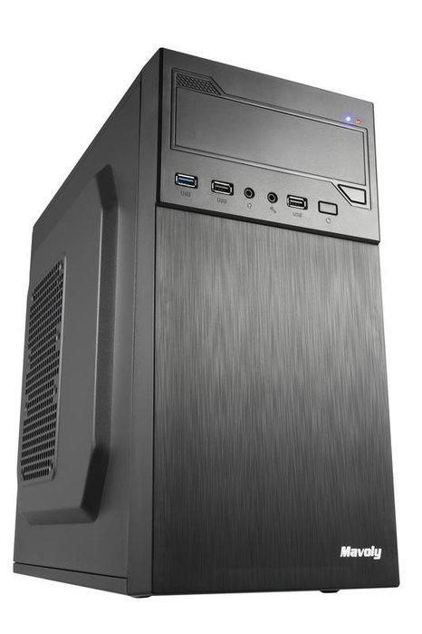 新品上市 可超商取貨 松聖 Mavoly 1805 M-ATX電腦機殼 黑色小機殼 後置可裝12公分風扇