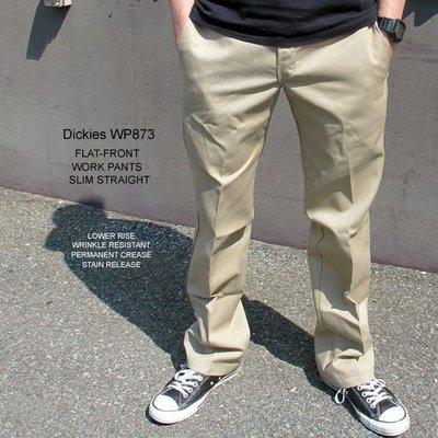 【 超搶手 】全新正品 Dickies 873 Work Pant 低腰窄版 西岸 工作褲 西裝 黑/ 灰/ 卡其/ 藍色 W29-W42 嘉義市