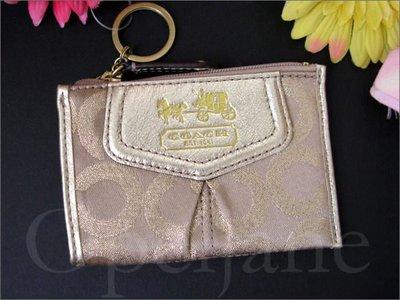 Coach KEY COIN 零錢包鑰匙包卡夾*信用卡悠遊卡夾 車票夾 免運費 愛Coach包包