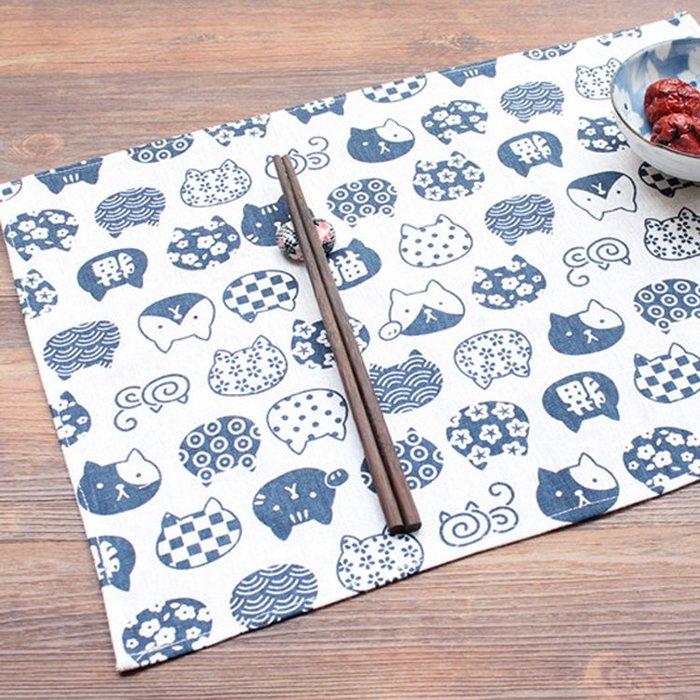 日式桌巾日式風呂敷餐巾布餐墊便當布純手工縫製-限量特惠中