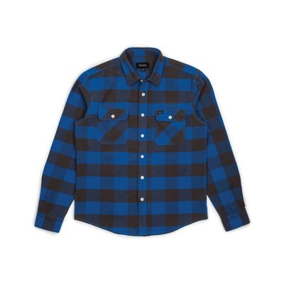 《 Nightmare 》Brixton Bowery L/S Flannel - Royal Grey