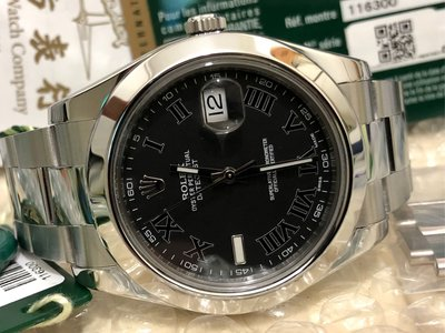 ((美品)) 98%極新 888行貨 Rolex Datejust II 116300 灰羅馬 新亂碼 2015年表 有買單 全套齊