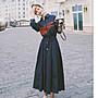現貨5209法式收腰顯瘦連衣裙女秋長袖2020新款氣質溫柔輕熟風中長款襯衫裙