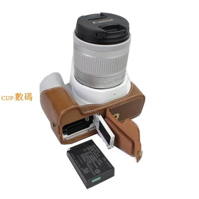 CUP·數碼 佳能單反相機包EOS 200D II 250D半套KISS X9 X10真皮底座SL2 SL3