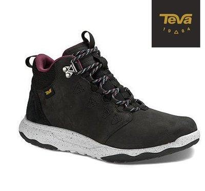 【Teva】ARROWOOD LUX MID WP 全真皮 超輕量 中筒防水健走登山鞋 /黑1013643BLK T36