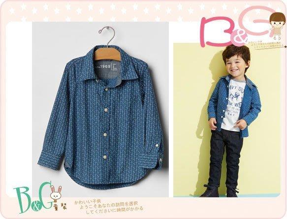 【B& G童裝】正品美國進口GAP 藍色格紋布長袖襯衫 18-24mos,5yrs