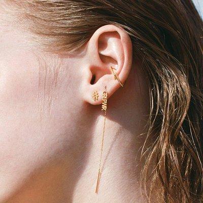手錶屋 日本代購 starjewelry 20夏 少女力量 GRL.PWR 字母 10K金 耳線
