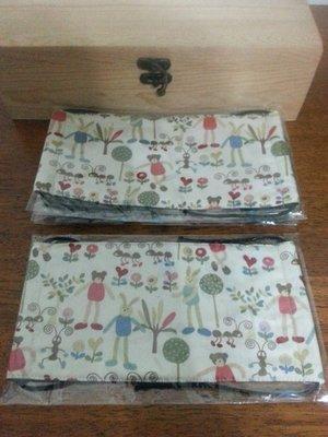 【小茉莉】手作大人平面四方寬版口罩/台灣棉布手作口罩→長腿兔可愛熊
