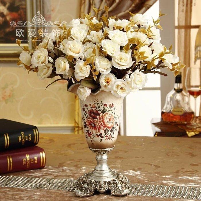 粉紅玫瑰精品屋~歐式高復古小花家居花瓶~