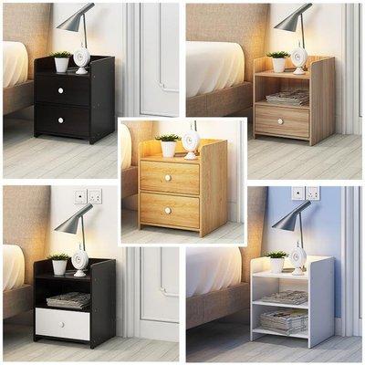 簡易床頭櫃簡約現代床櫃收納小櫃子組裝儲物櫃宿舍臥室組裝床邊櫃FA
