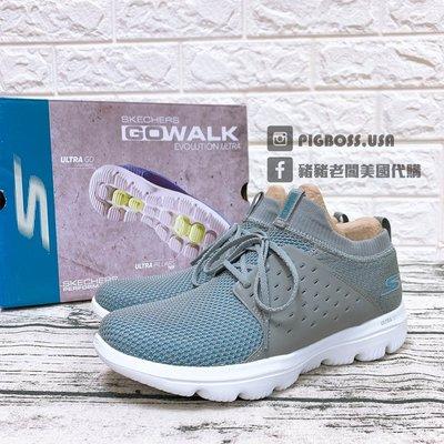 【豬豬老闆】SKECHERS GO WALK EVOLUTION ULTRA 灰藍 透氣 慢跑鞋 女 15726GYBL