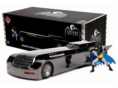 24-439 Jada- Chrome Batmobile with Batman Diecast Figurine
