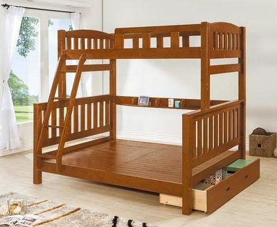 【南洋風休閒傢俱】精選時尚床 雙層床 木頭床 上下床 兒童床 -亞瑟士5尺樟木雙層床 CY131-222