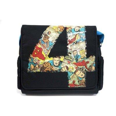 原廠授權 MARVEL 驚奇四超人 復仇者聯盟 斜背 郵差電腦包 Bag 肩背 手提 可放雜誌 15.6吋 筆電包
