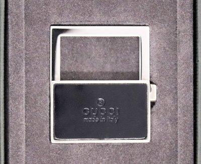 正品 現貨 絕版 GUCCI 銀製 皮革 鑰匙圈 父親節禮品