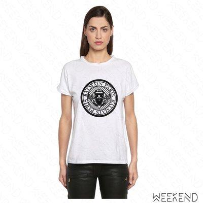 【WEEKEND】 BALMAIN 經典 短袖 T恤 上衣 白色 18春夏新款