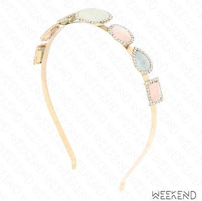 【WEEKEND】ROSANTICA Incantesimo 寶石 水晶 髮圈 髮箍 多色 19春夏
