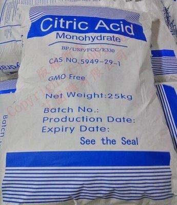 新貨保證新鮮~~三福化工~可面交~高品質~食品級 檸檬酸-25公斤 -廢水處理使用效果超棒~酸的純度高